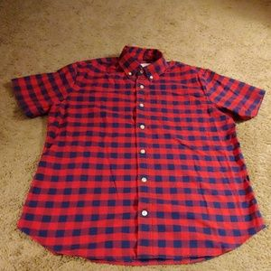 GAP Standard Fit Stretch Checkered Top, Tag Size M